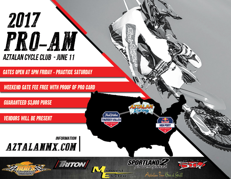2017 Pro-Am at Aztalan Cycle Club on June 11, 2017